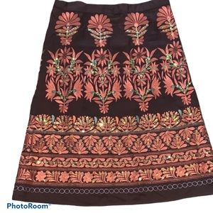 Sweet By Miss Me Boho Embroidered A Line Skirt. S